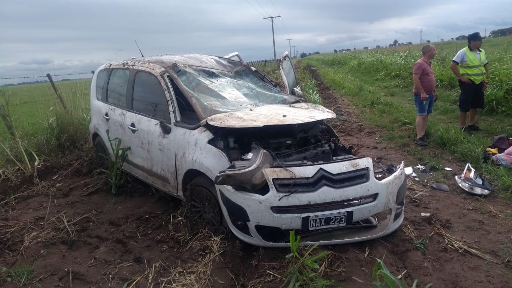 Vuelco en Ruta 188 cerca de Maisonnave: No hubo heridos