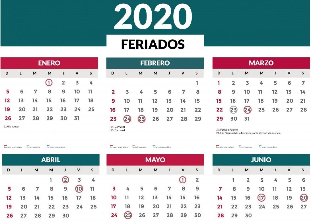 Mirá cuáles serán los feriados del mes de junio