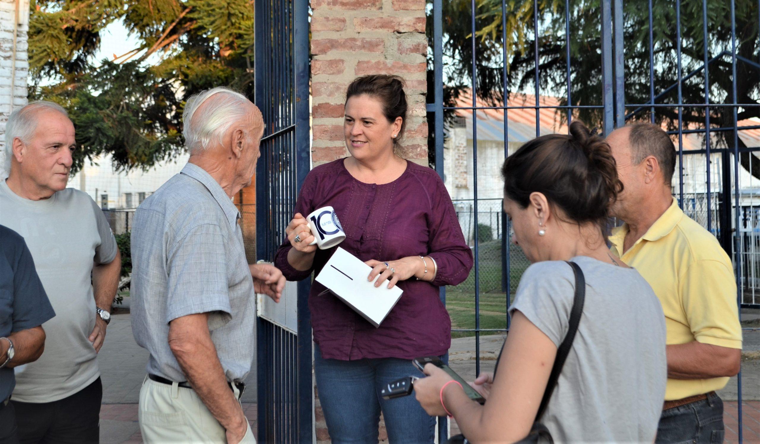 La intendenta Alonso visitó el Club Atlético y Cultural Argentino