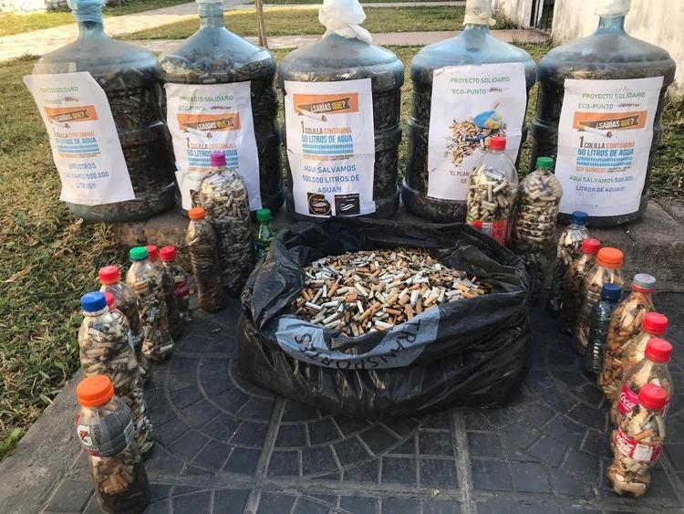 Único en el mundo: una familia mendocina convierte las colillas de cigarrillos en ladrillos ecológicos