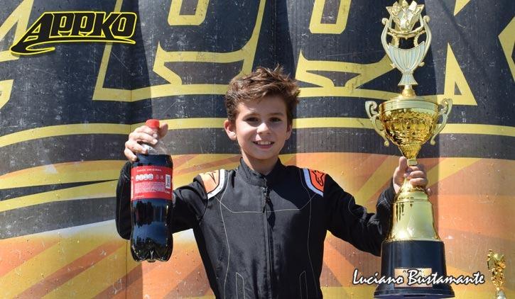 Karting: el piloto piquense, Lautaro Videla, logró su primer y contundente triunfo del año en Olavarría