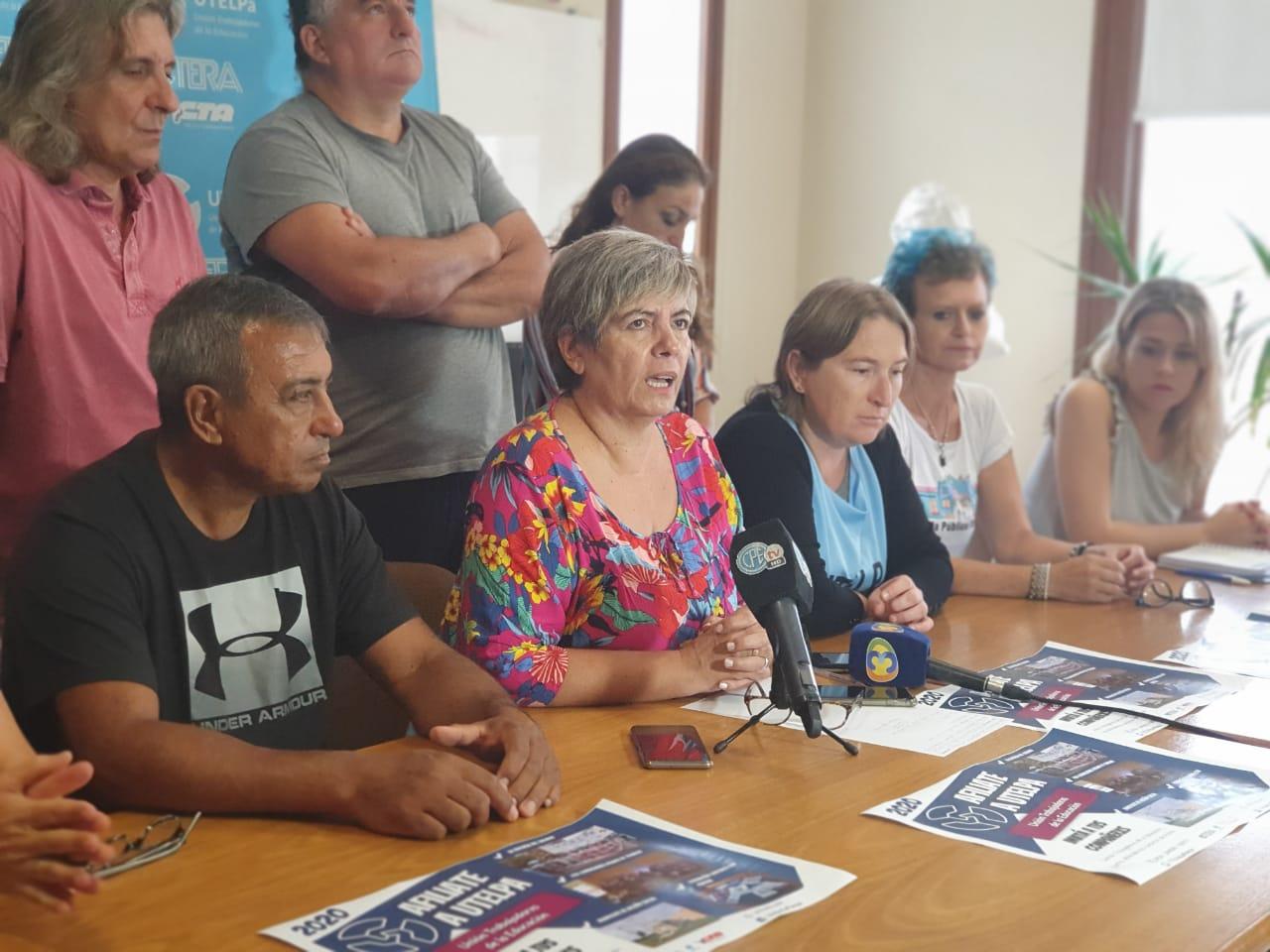 """UTELPa pidió medidas para garantizar la continuidad laboral de docentes suplentes y un """"adelanto salarial"""""""