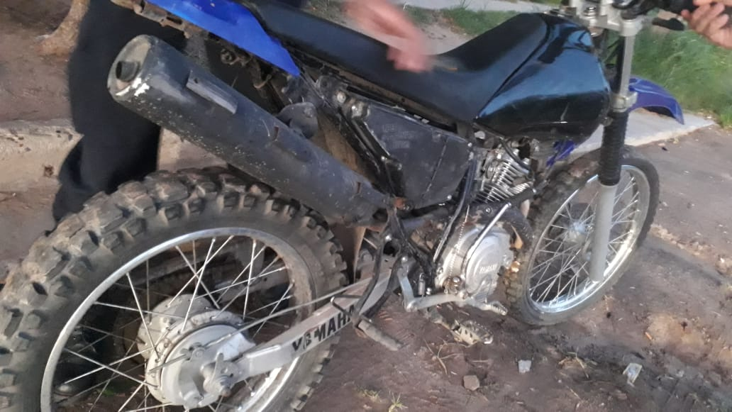 La policía recuperó en menos de 24 horas una moto que había sido robada