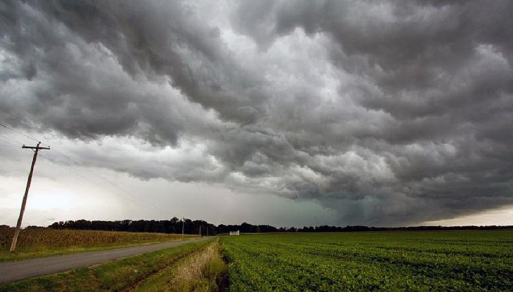 Aviso a corto plazo por tormentas fuertes con ráfagas y ocasional caída de granizo para La Pampa