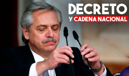 El presidente Alberto Fernández brindó una cadena nacional con motivo de la Emergencia sanitaria por Coronavirus
