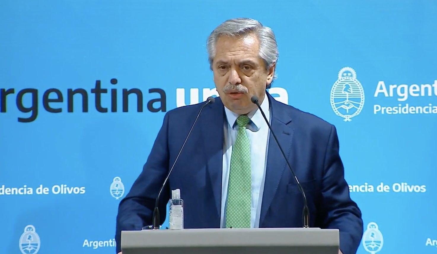 Alberto Fernández confirmó la cuarentena obligatoria desde esta medianoche hasta el 31 de marzo