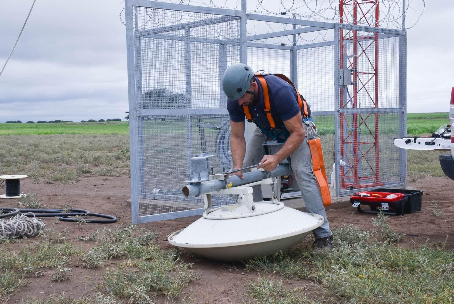 Culminaron los trabajos en la antena del Paraje El Durazno