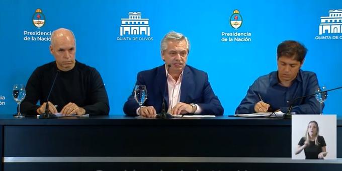 El Presidente anunció la suspensión de clases en la Argentina y el cierre total de fronteras