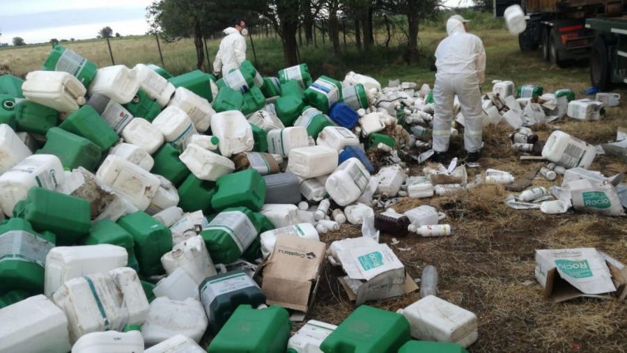 La Fundación Campo Limpio retiró bidones vacíos de agroquímicos en Metileo