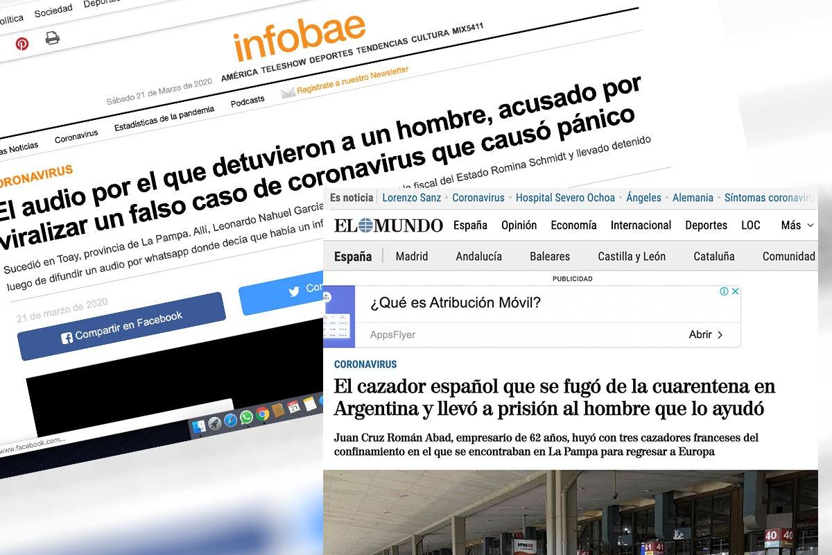 Un audio falso y un español que escapó en plena cuarentena puso a La Pampa en las noticias nacionales y mundiales