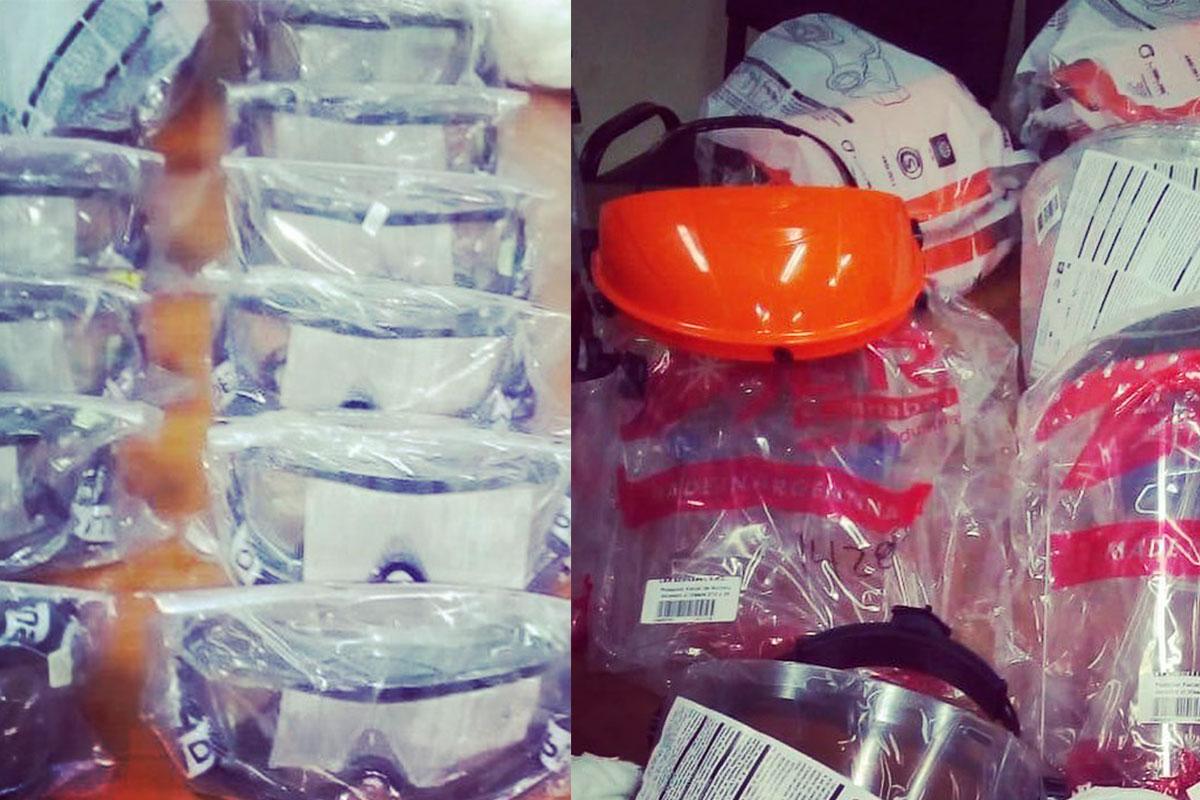 La cooperadora del Hospital Centeno entregó máscaras de protección, anteojos de seguridad y barbijos