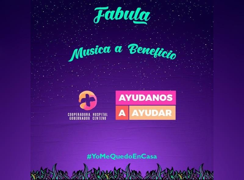 Esta noche Fábula hará un streaming solidario para alentar a que la gente siga donando al Hospital Gobernador Centeno