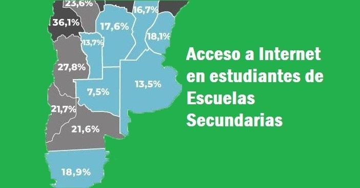 La Pampa es la provincia donde los estudiantes de Secundaria tienen el mayor acceso a Internet de todo el país