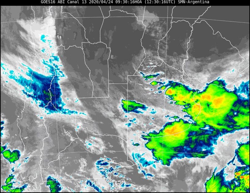 Cese de alerta por tormenta fuertes para el centro y sur de La Pampa