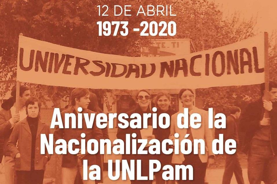 La Universidad de La Pampa celebra hoy el 47º aniversario de su nacionalización