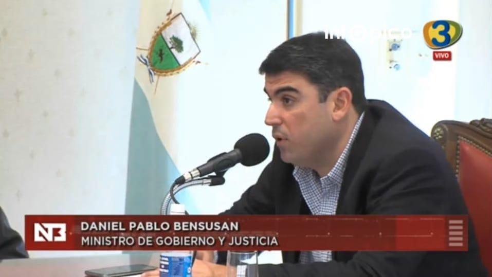 «En La Pampa no hay ningún detenido que haya sido liberado por la pandemia» confirmó el ministro de gobierno y justicia