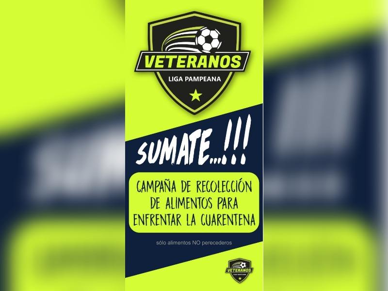 La Liga de Veteranos de fútbol organiza una colecta solidaria afuera de los supermercados de General Pico