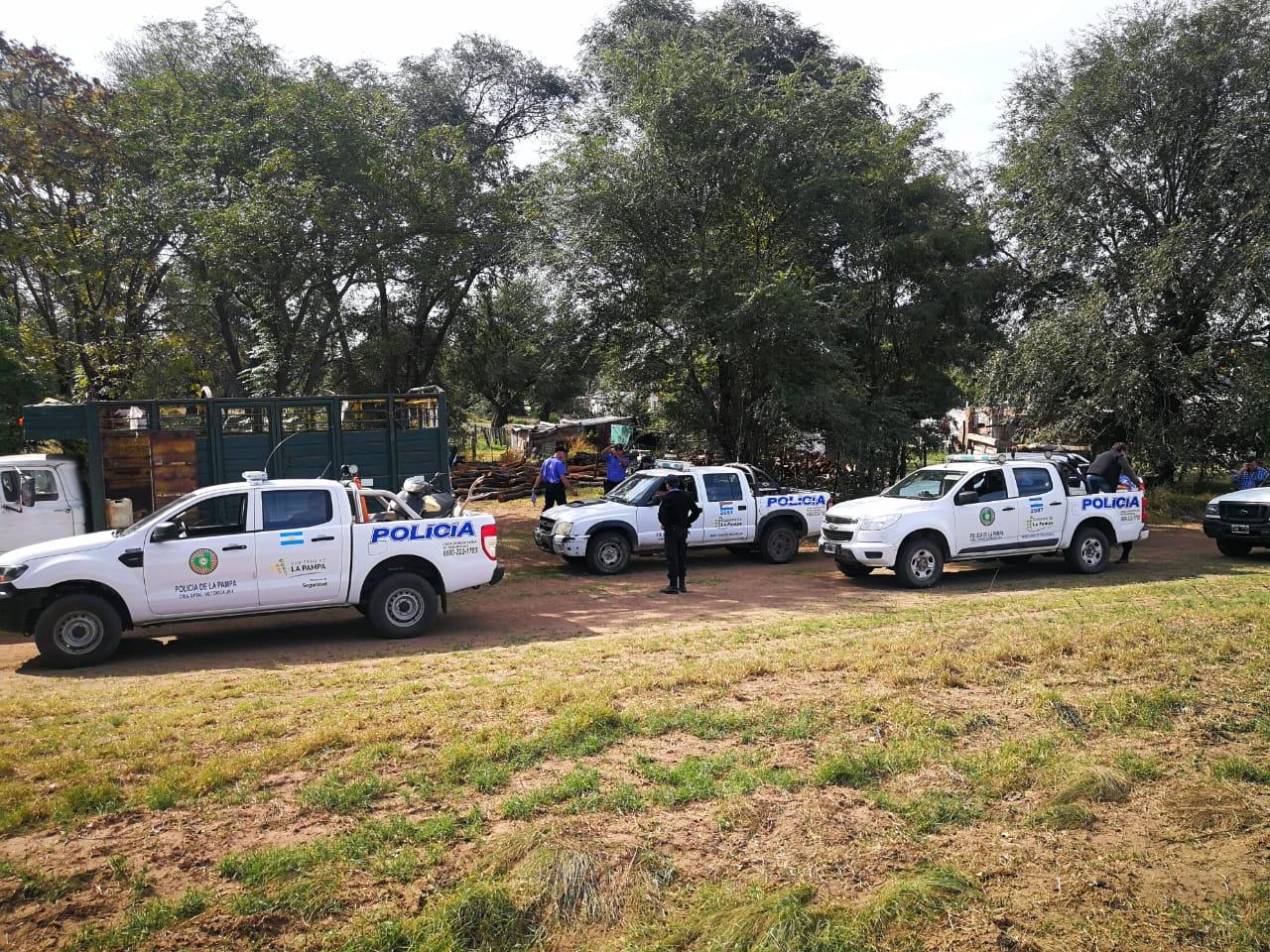 Detuvieron a tres cazadores furtivos, liberaron tres lechones de jabalí y secuestraron múltiples elementos tras varios allanamientos en Luan Toro