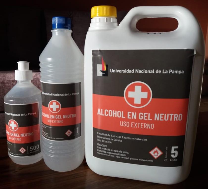 Made in La Pampa: la universidad fabricó su propio alcohol en gel