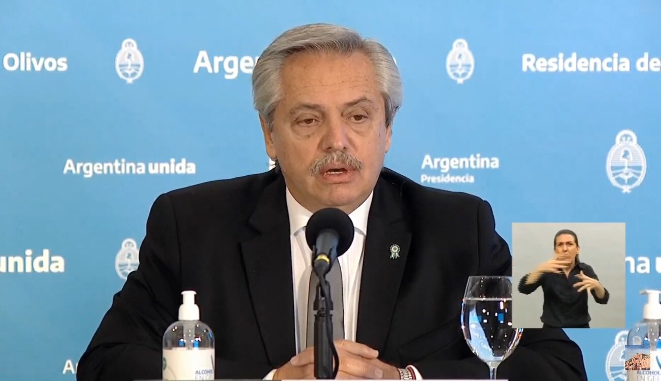 El presidente Alberto Fernández anunció la prórroga de la cuarentena hasta el domingo 7 de junio