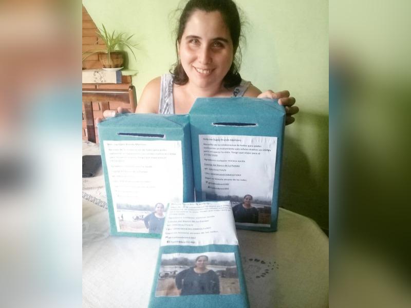 Brenda Martínez, la joven piquense que sueña con recuperar la vista continúa con las rifas para terminar de juntar el dinero y viajar a China en marzo del 2021