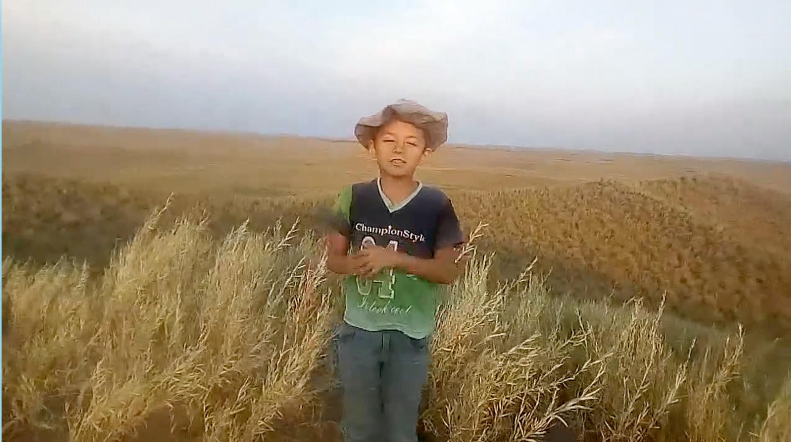 ¡EMOCIONANTE!: Un niño de 7 años hace videos desde una loma para «tener señal» y poder enviárselo a su maestra en el oeste pampeano