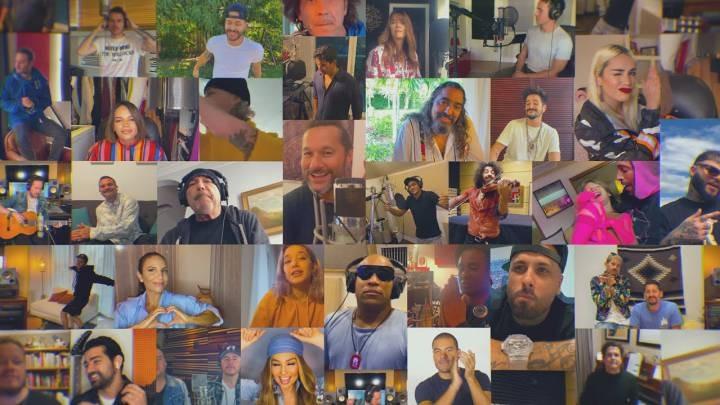 """La impresionante versión de """"Color Esperanza"""": artistas latinos se unieron en la lucha contra el coronavirus"""