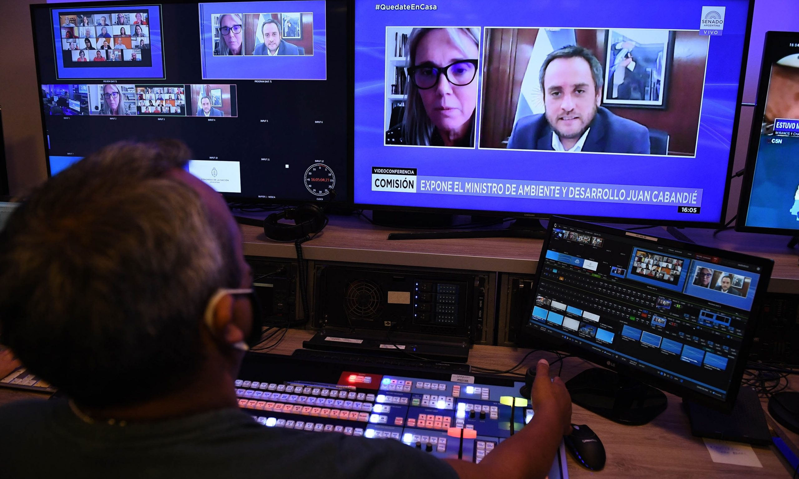 A través de videoconferencia la senadora Norma Durango habló con Juan Cabandié por Portezuelo del Viento