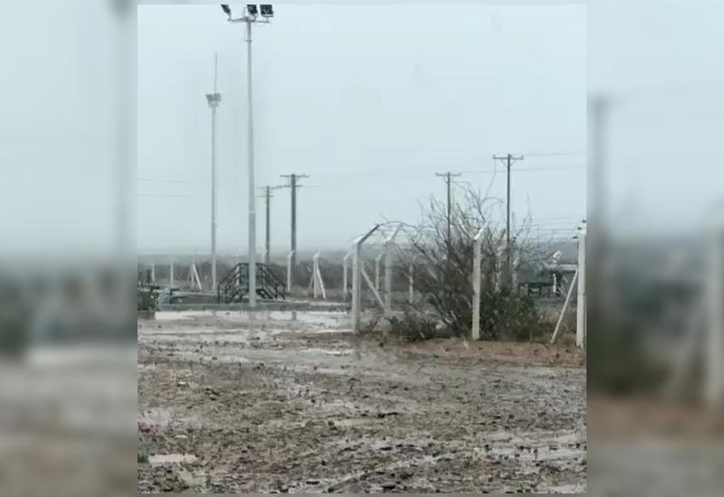 [VIDEO]: Nieva en el oeste pampeano