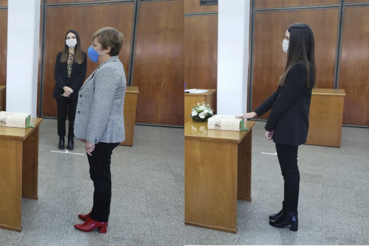 Tomaron juramento a dos nuevas funcionarias en el Edificio Judicial de General Pico