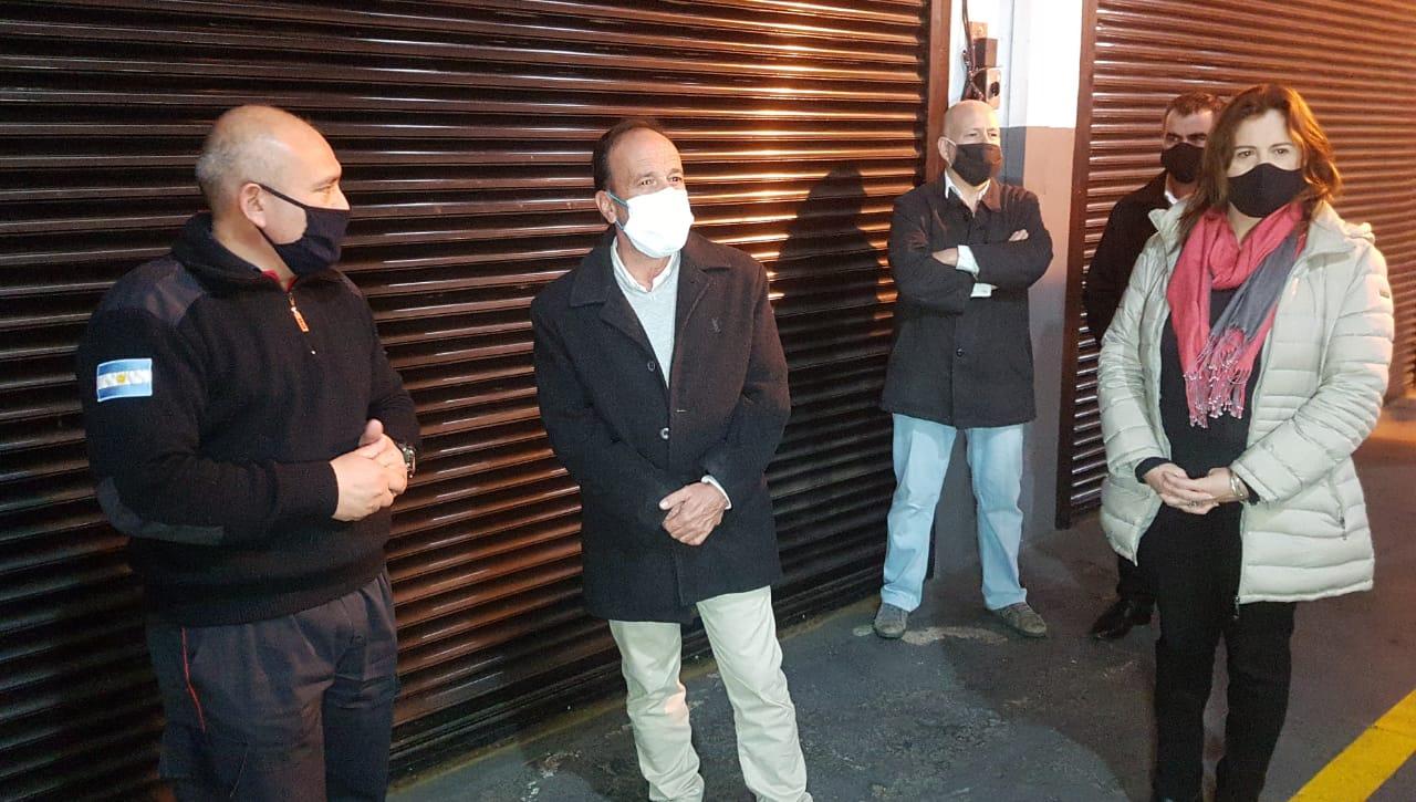 El ministro Di Napoli está en Pico con varios temas en carpeta: Bomberos, Cámaras de Seguridad, corte de ruta y reunión con intendentes