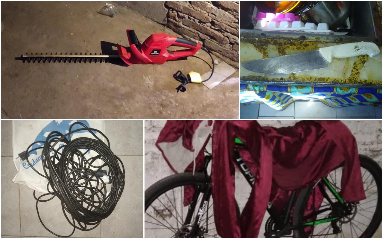 Allanan dos viviendas y logran recuperar una bicicleta y un cortacerco robados en la madrugada del sábado
