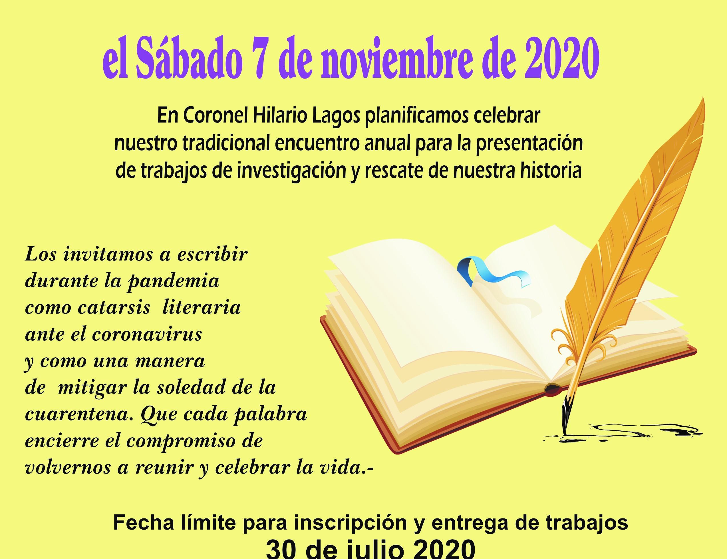 "Historiadores invitan a participar de una ""Catarsis Literaria"""