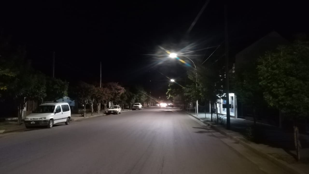 Corpico continúa con la instalación de luces de leds en distintos puntos de la ciudad