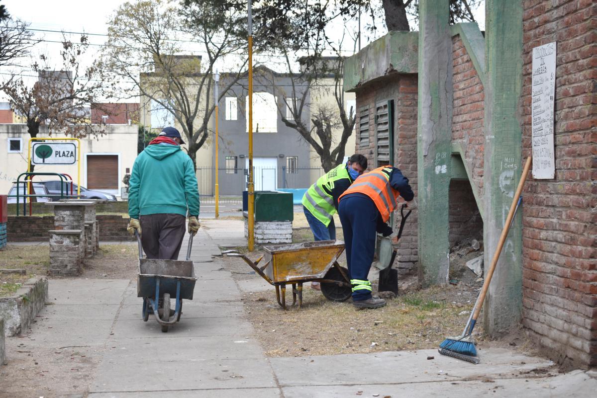 Realizaron una jornada intensiva de limpieza en Barrio Malvinas