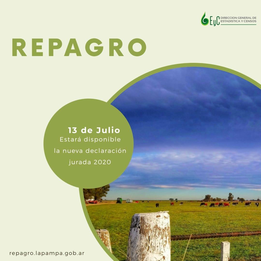 A partir de julio estará disponible la declaración jurada del REPAGRO que deben presentar los productores pampeanos