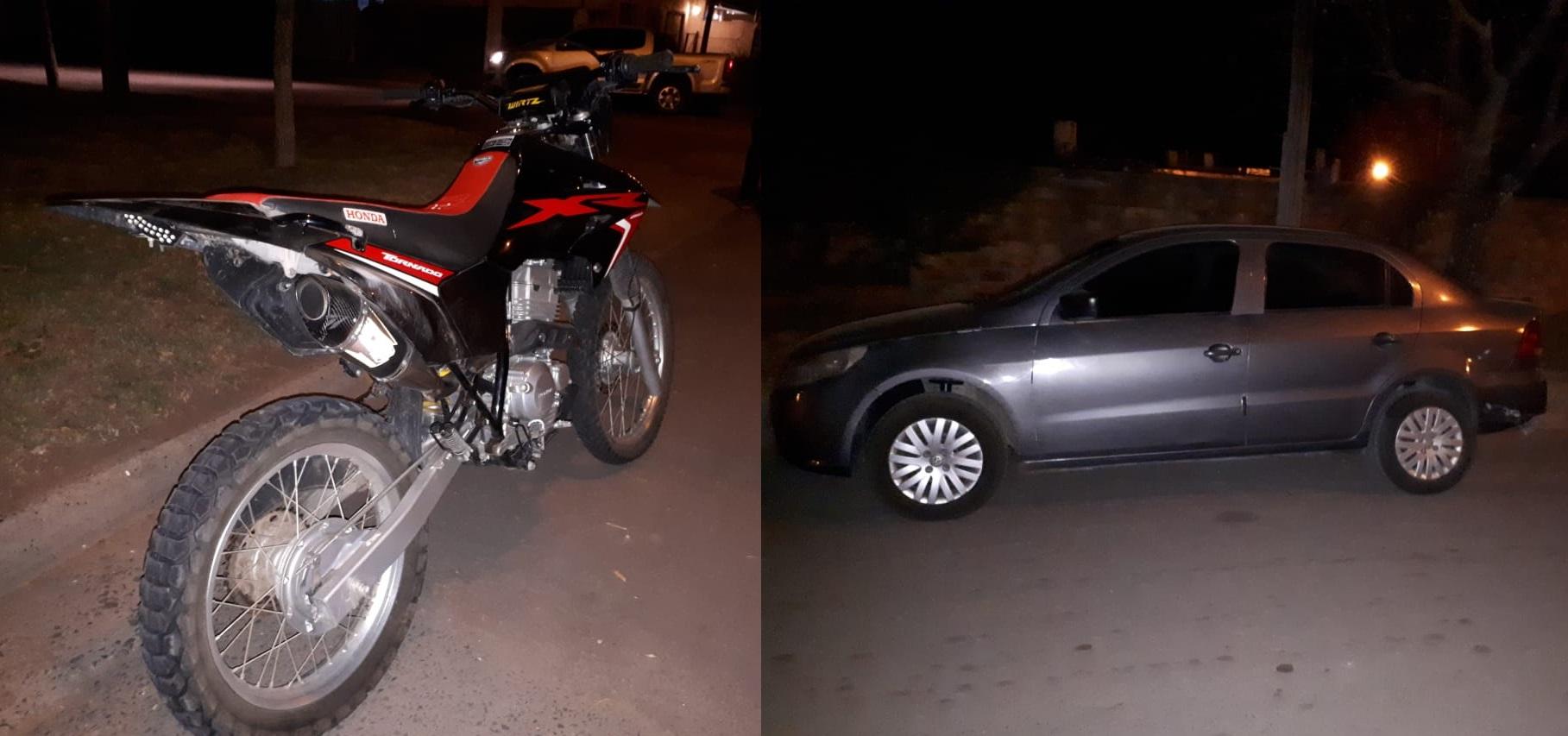 Fuerte choque entre un auto y una moto en Alvear: El motociclista fue derivado a General Pico y se encuentra internado en terapia intensiva