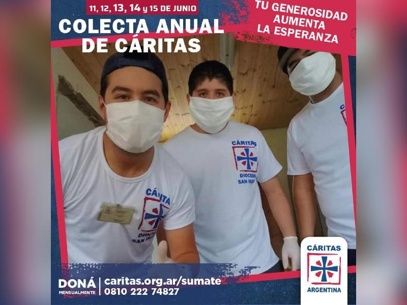 La colecta anual de Cáritas llega este mes a La Pampa