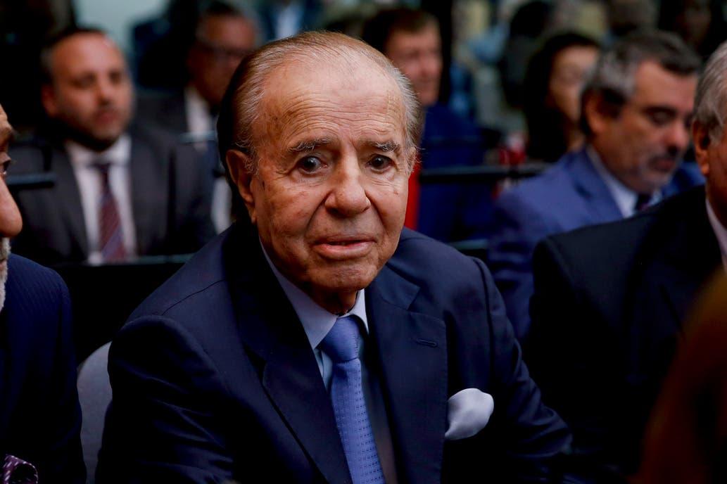 Carlos Menem fue dado de alta luego de pasar 16 días internado por una severa neumonía