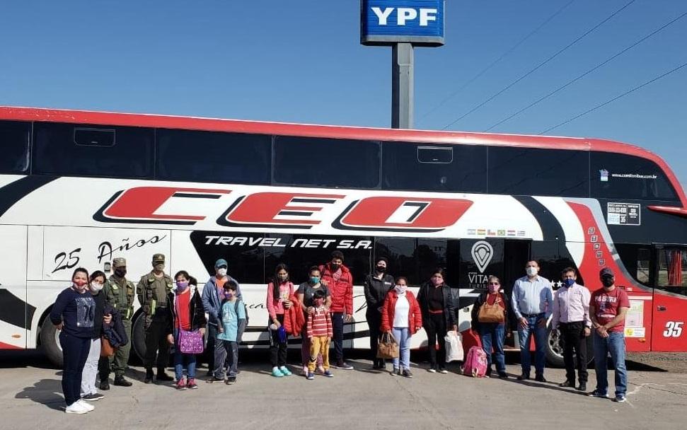 Operativo de repatriación: 48 personas de La Pampa, Mendoza y San Juan regresaron hoy a Paraguay