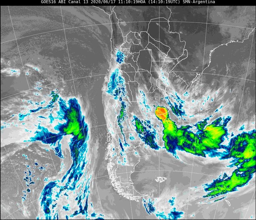 Renovaron el alerta por lluvias y tormentas fuertes para el noreste de La Pampa