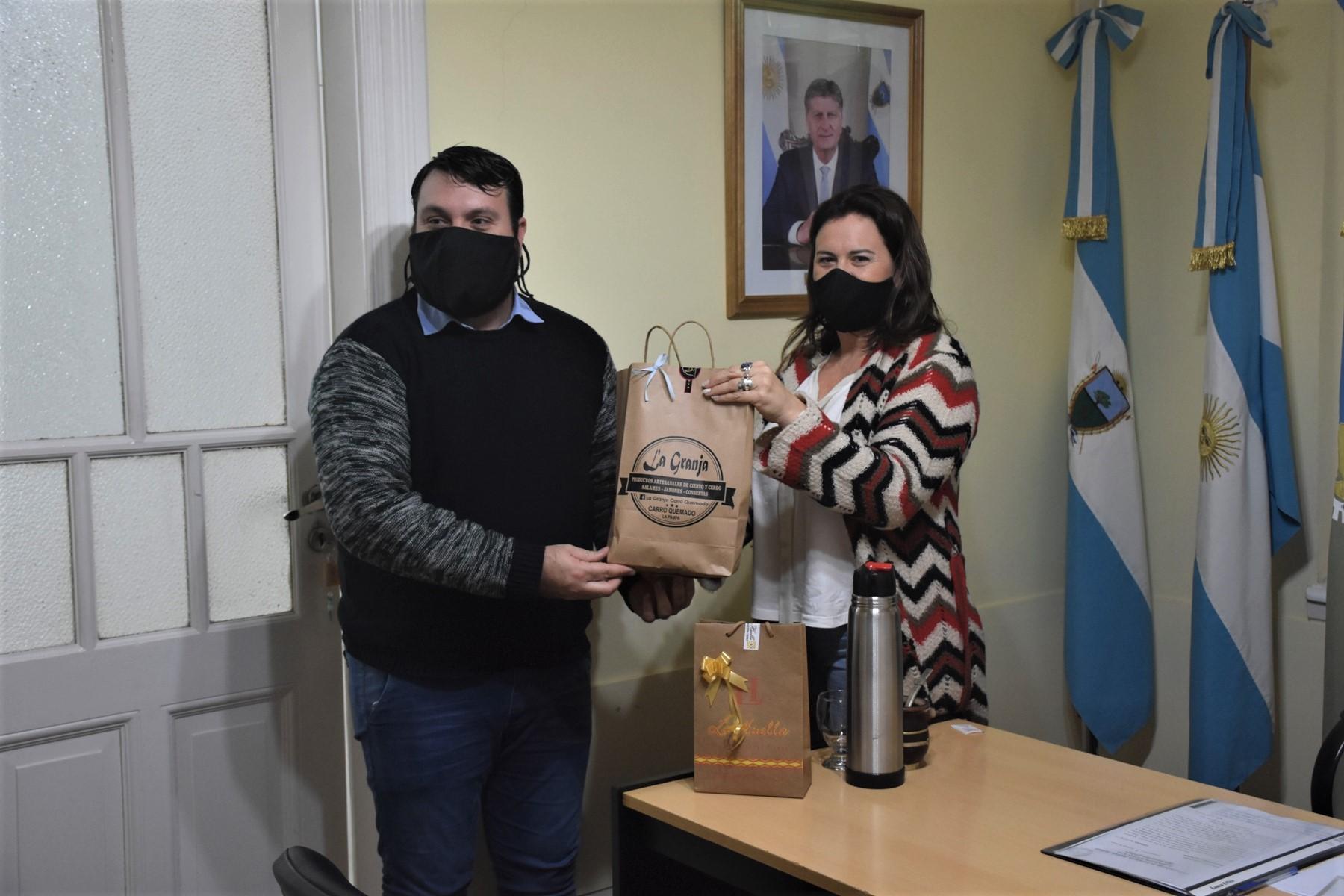 El intendente de Carro Quemado visitó General Pico y difundió la oferta turística de esa localidad