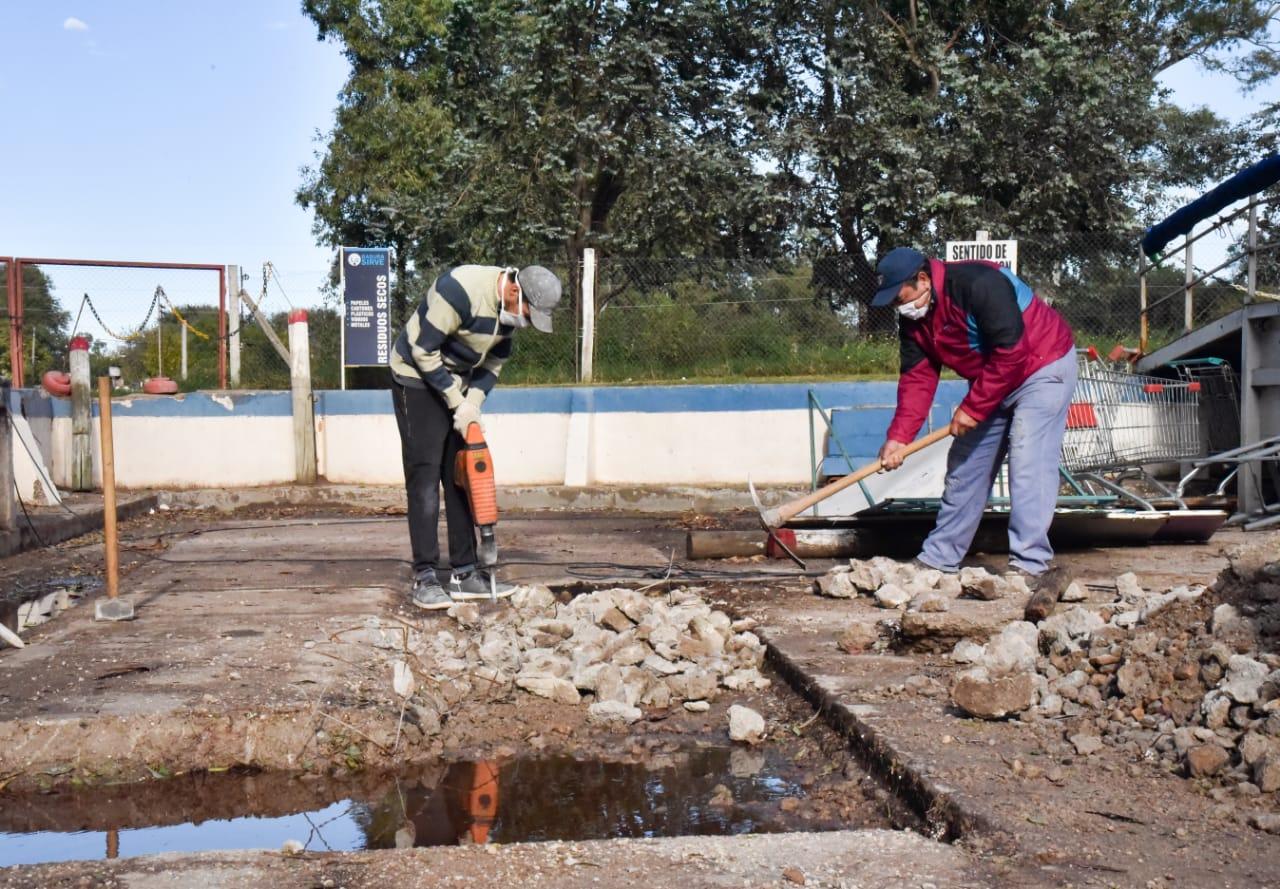Continúan las refacciones en la Estación de Transferencia de Residuos Sólidos y Urbanos