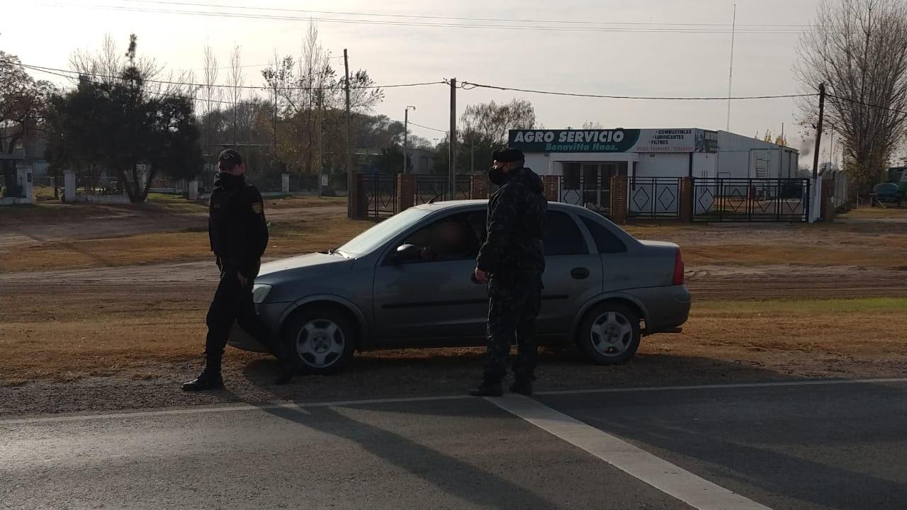 Interceptan a una persona que ingresó a La Pampa desde Trenque Lauquen evadiendo los puestos de control