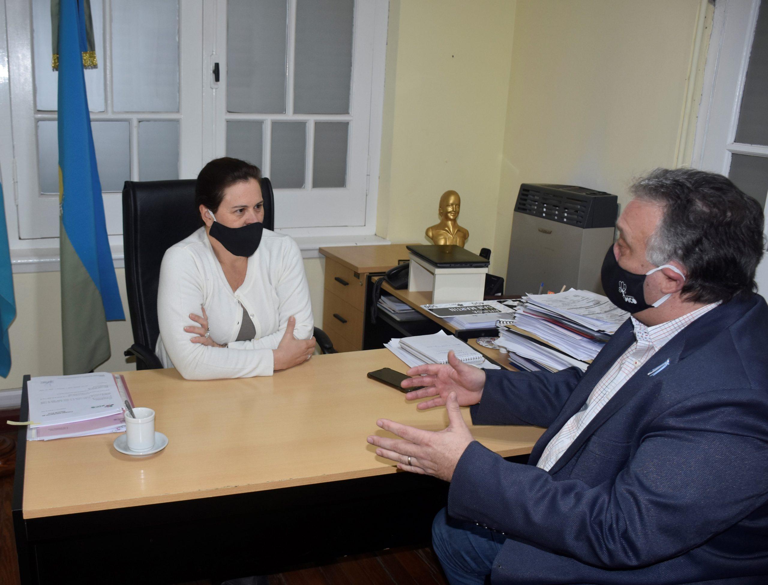 Alonso y Lovera buscan acordar estrategias para el sostenimiento de fuentes laborales en General Pico