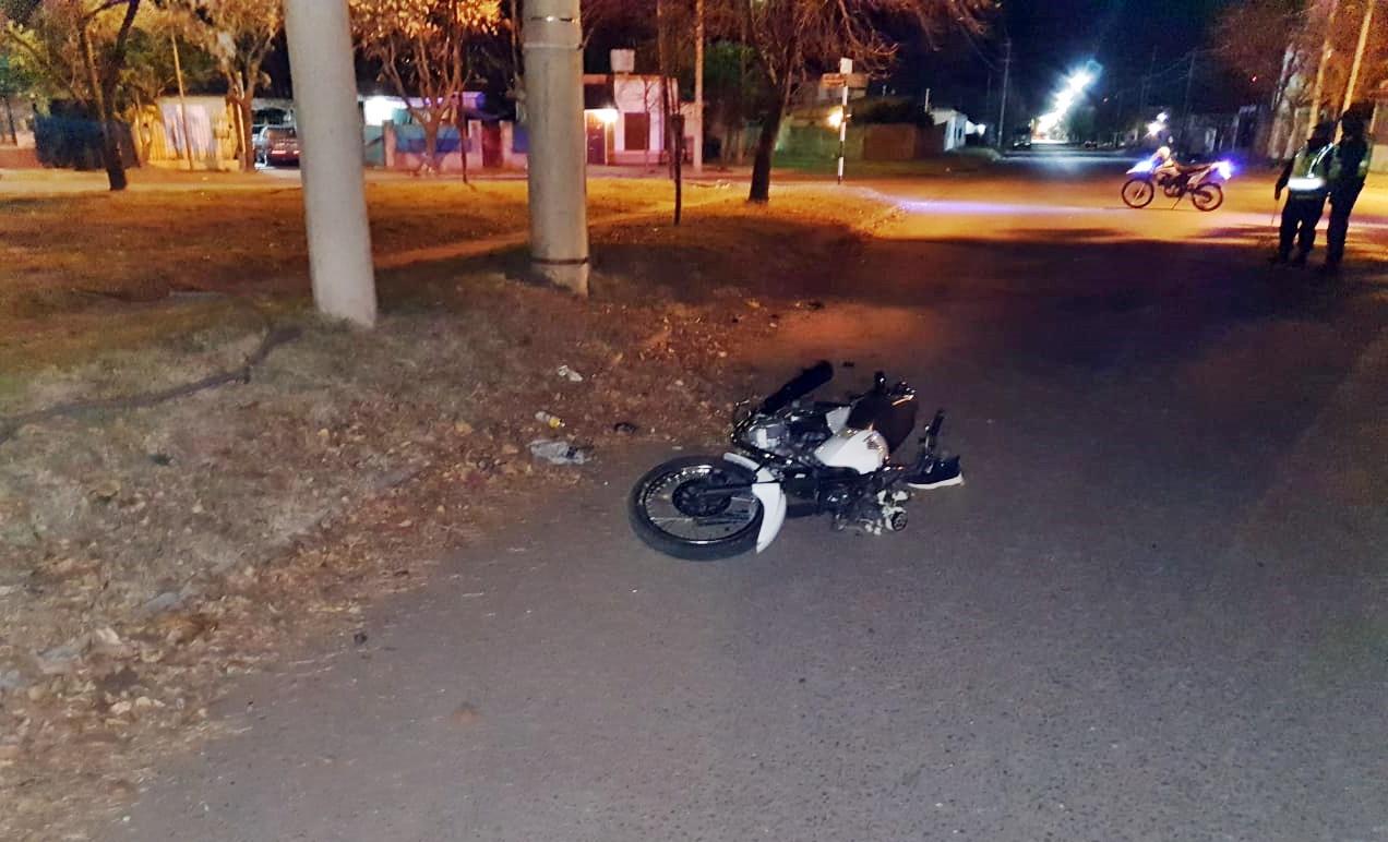 Motociclista accidentado en la madrugada del domingo