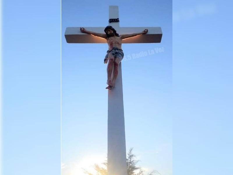 Llevan a cabo la primera etapa de las reparaciones del Monumento a la Cruz en Trenel