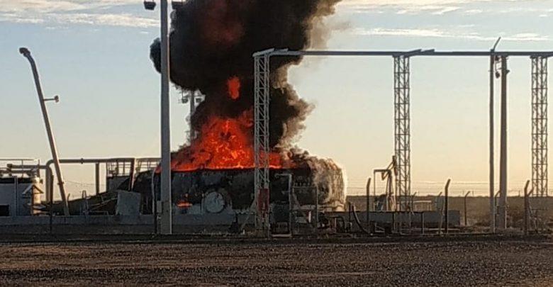 Explotó un tanque petrolero en un yacimiento Pampeano
