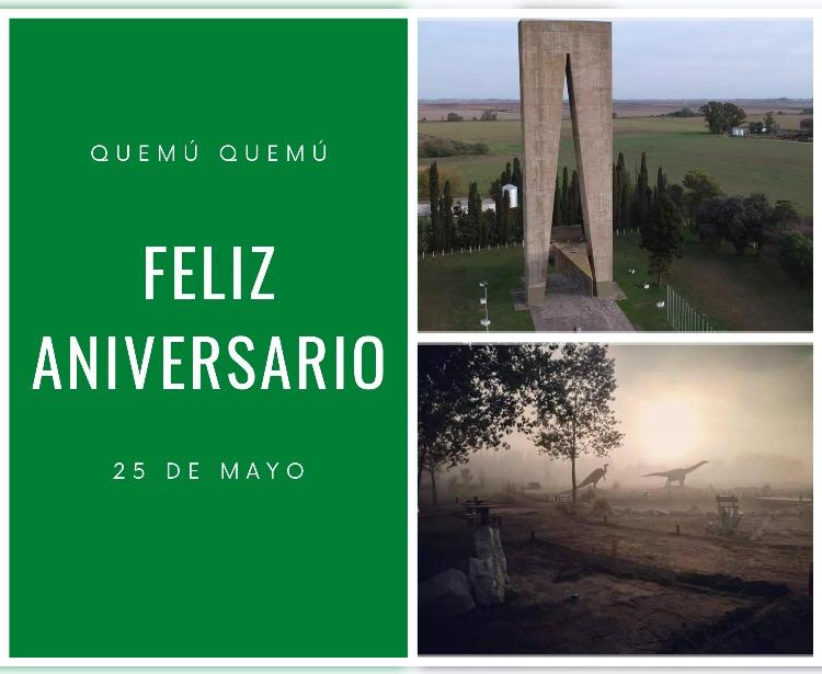 ¡Hoy se celebra el emotivo aniversario de Quemú Quemú y 25 de Mayo!