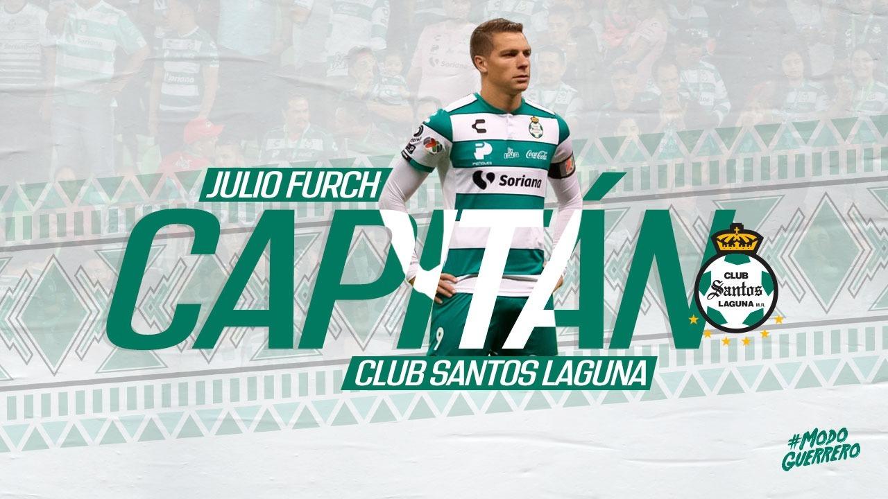 El goleador winifredense Julio Furch es el nuevo capitán del Santos Laguna